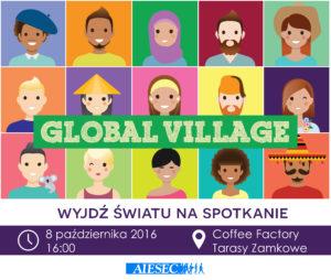 poster Global Village loga